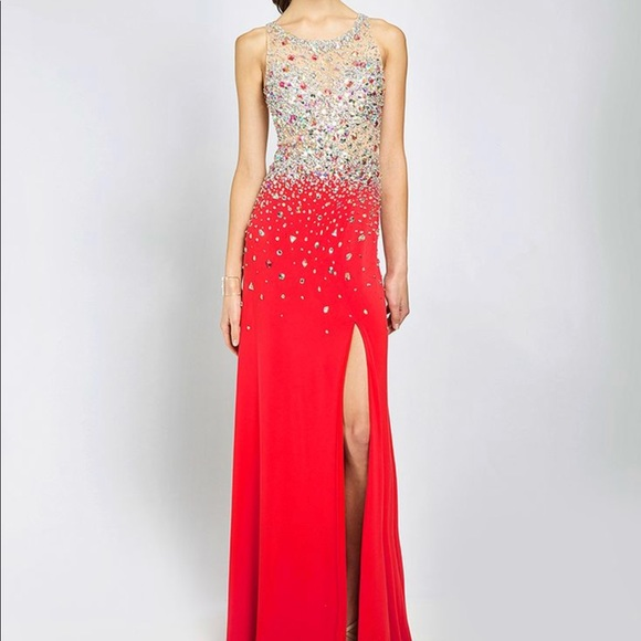 Jovani Dresses | Red Embellished Prom